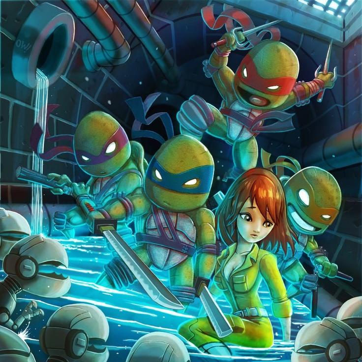 Фото аниме черепашек ниндзя