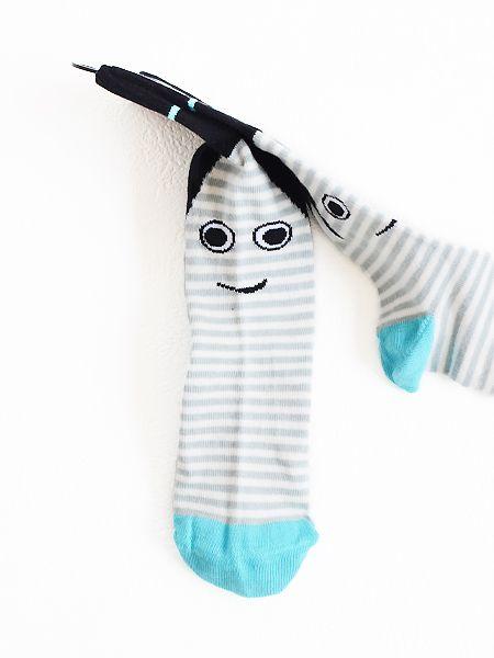 UBANG 靴下 ソックス Ghost talkie walkie - 子供服キイロイキ輸入服-BABY,KIDS&MOMMY