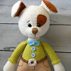 Вязаный щенок Бруно: мастер-класс игрушки крючком | AmiguRoom