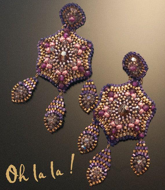 Swarovski Gold Fill Statement Swarovski Crystal by OhlalaJewelry