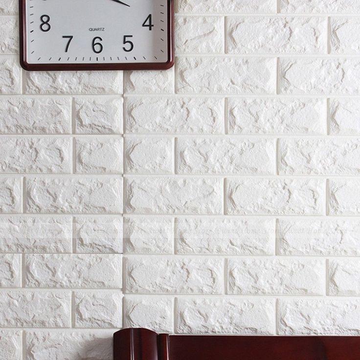 3D Ladrillo Papel pintado patrón Dormitorio Salón Moderno Pared Decoración de TV de fondo