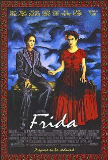 Frida (2002) A biography of artist Frida Kahlo, who channeled the pain of a crippling injury and her tempestuous marriage into her work.