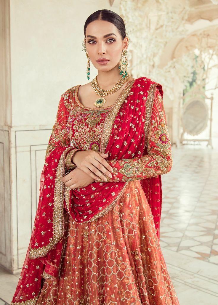 Elegant pakistani bridal lehnga dress for wedding j5104