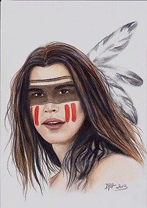 Native american male makeup
