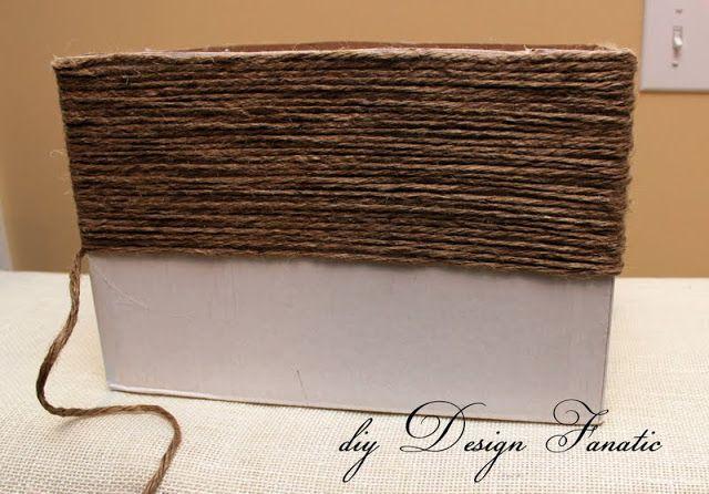 diy Design Fanatic: Make A Basket From A Wine Box