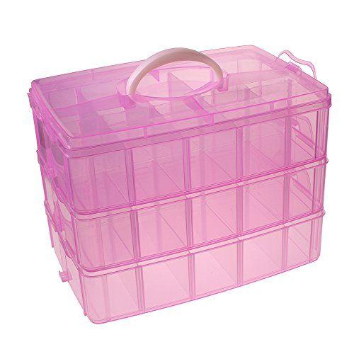 3 Piani scatola rosa trasparente contenitore stoccaggio artigianato hobby plastica di Kurtzy TM Kurtzy http://www.amazon.it/dp/B00LTIFPU2/ref=cm_sw_r_pi_dp_tPqvvb0SKZXSC