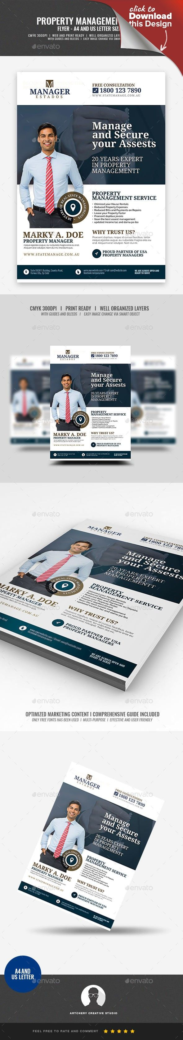 Property Management And Real Estate Flyer Property Management Real Estate Flyers Flyer