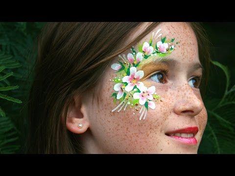 Flower fairy face painting tutorial - Bonus: Learn all about 3D glitter gel! - YouTube