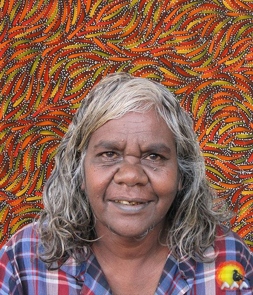 Australian Aboriginal Artist Rosemary Petyarre #aboriginalart #aboriginalpainting #australianart