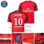 Fr-Football: Paris PSG 2016-2017 Saison Flocage Maillot De Foot Pastore 10 Exterieur Rouge |Thai Edition