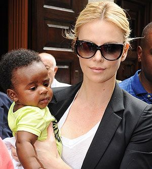 Successful actress Charlize Theron adopted a son named Jackson.
