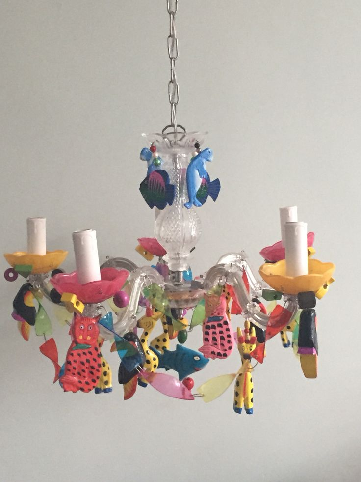 Chandelier I made for a little girl.