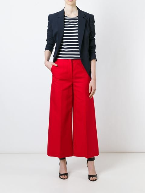 Sonia Rykiel wide leg cropped trousers