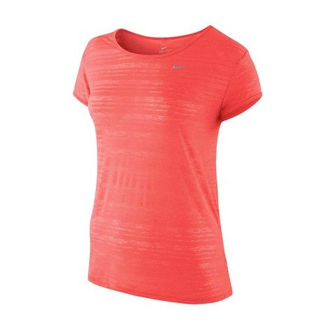Nike DF Touch Breeze Stripe Women's Tee - Brand NEW Rebel. Layer up without overheating with the Nike Touch Breeze Stripe Tee. Made with an ultra thin, ultra light material this top is the perfect summer workout companion. With Dri-FIT technology ensuring you stay dry while you work hard, this top will be surprisingly durable thanks to the taped seams.