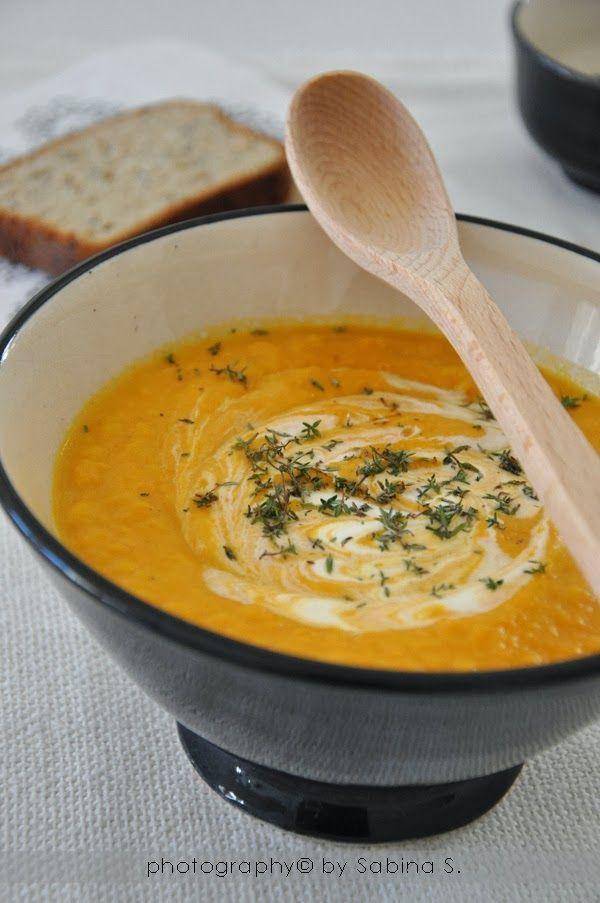 vellutata di carote zenzero e timo