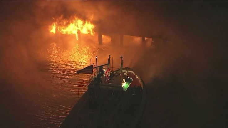 The Los Angeles Fire Department declared a major emergency in response to a growing blaze that engulfed about 150 feet of wharf and threatened a warehouse at the Port of Los Angeles in Wilmington. #LosAngeles #fire #emergency #PortofLA #Wilmington #hazardous #awareness #beprepared #besafe #prayers