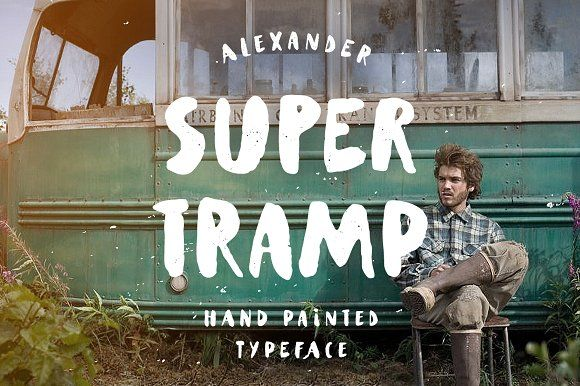 Supertramp Typeface by Andrey Sharonov on @creativemarket