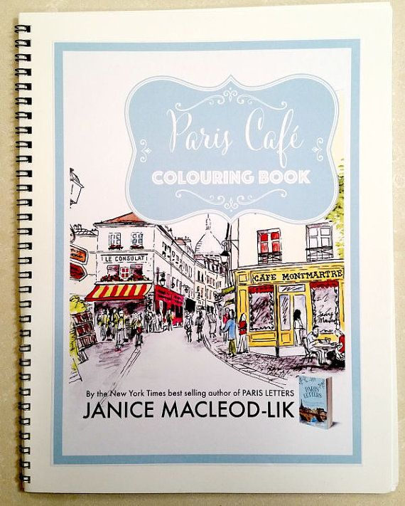 Colouring Book Paris Cafe By JaniceArtShip On Etsy