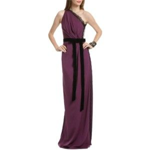 Pre-owned Robert Rodriguez Berry Wild Lace Gown Dress