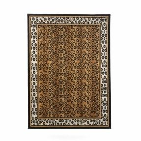 Zone Leopard Brown Area Rug