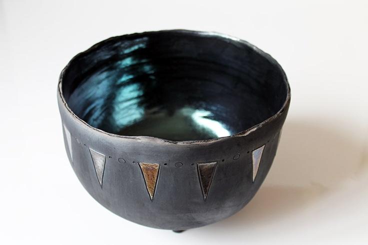 Ceramica : Coppa tripode realizzata da Ceram'art