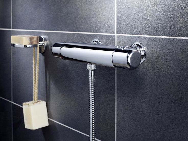 Duschblandare i krom från badrumsserien Logic.