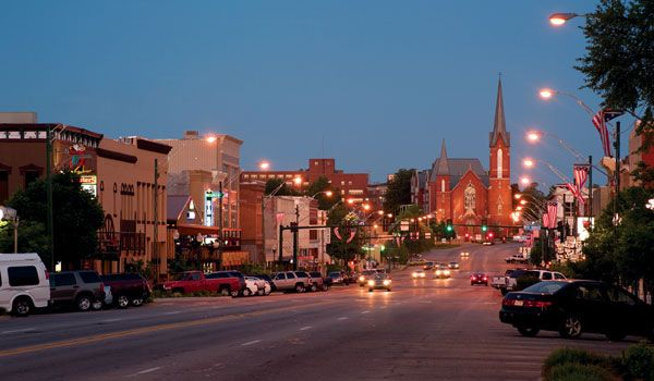 I'm gonna miss this view. Garrison Avenue in historic downtown Fort Smith, Arkansas