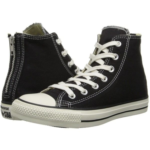 Converse Chuck Taylor All Star Washed Twill Back Zip Hi Lace up casual... ($40) ❤ liked on Polyvore featuring shoes, sneakers, converse, men, converse footwear, star sneakers, lace up sneakers, lacing sneakers and converse shoes