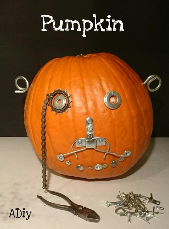 Ősz, tök, csavarok, saját készítés....autumn, pumpkin, halloween, screws...diy...