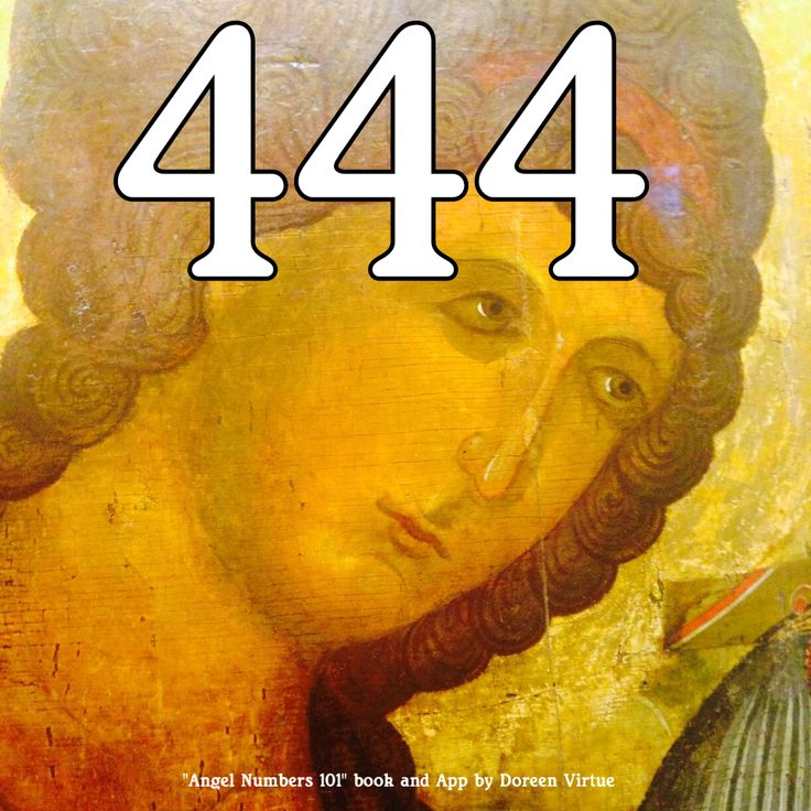 What Does 444 Mean? 444 means that the angels are with you. It's a comforting reminder from heaven, reassuring you that your prayers have been heard and answered, and that you are being helped, watched over, and protected by God's angels.