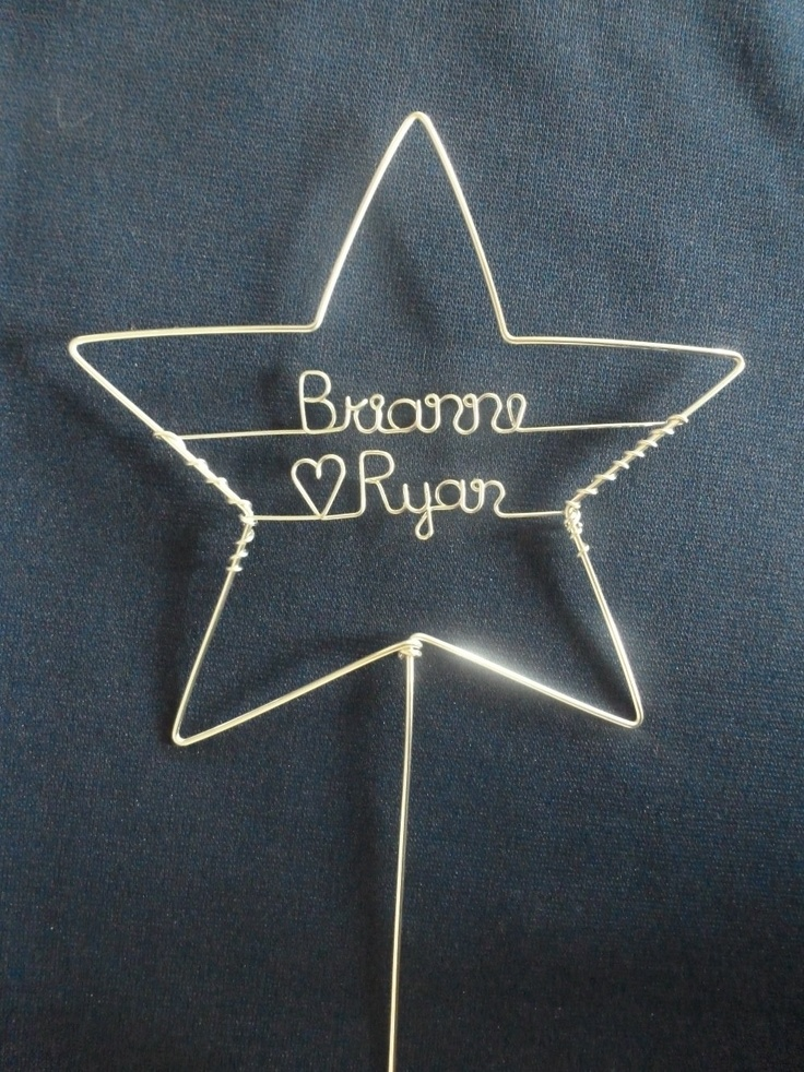 Personalized Star Wedding Cake Topper By Heatherboyd On Etsy