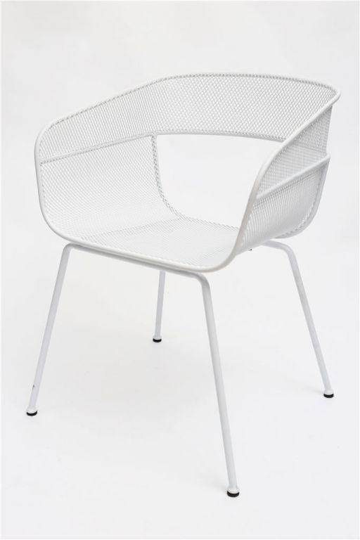 Scoop Outdoor Dining Chair in White - Curious Grace