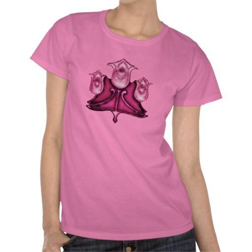 art nouveau shabby flowers_pink tint shirts #vintage #artnouveau #fashion