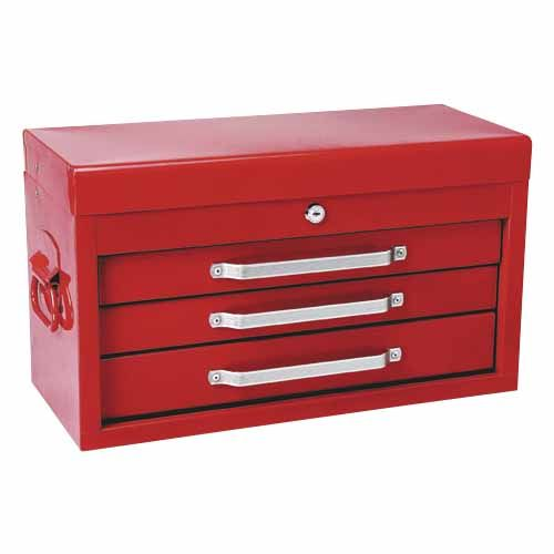Geelong Metal Tool Chest with 3 Drawers W:514mm, D: 213mm, H:321mm. - Mitre 10