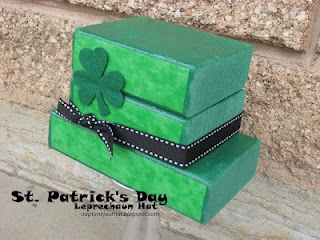 This is super cute and not very big.  Would be a cute VT gift as well.: Leprechaun Hats, St. Patties, Awesome St., 30 Awesome, Cute Hats, St. Patrick'S Day, Naps Time, Woods Blocks, Tops Hats