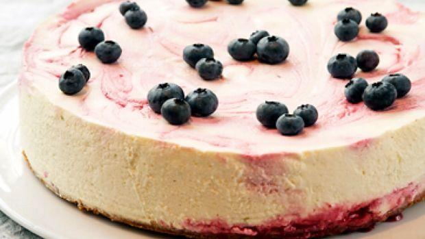 Opskrift på blåbær cheesecake