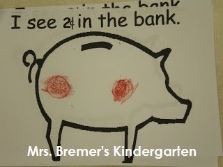 Great idea for a worksheet! Just print a several with a blank line for the money value & then you can fill in different amounts. Love this! Kindergarten: money