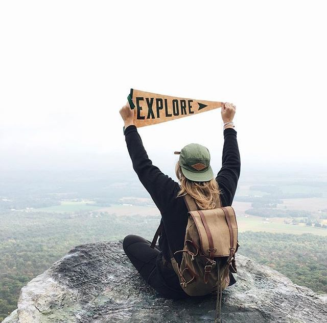 The more you look, the more you see. #bluemovement photo by @danidemmel, featuring our Explore Pennant, 5 Panel Camp Cap & Derby Tier Backpack at Bake Oven Knob.