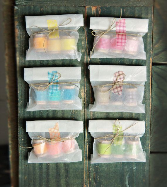 washi tape party favor