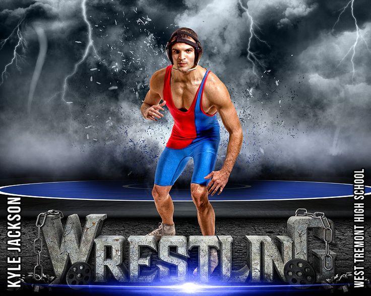 Sports Poster Photo Template - Wrestling - Destruction