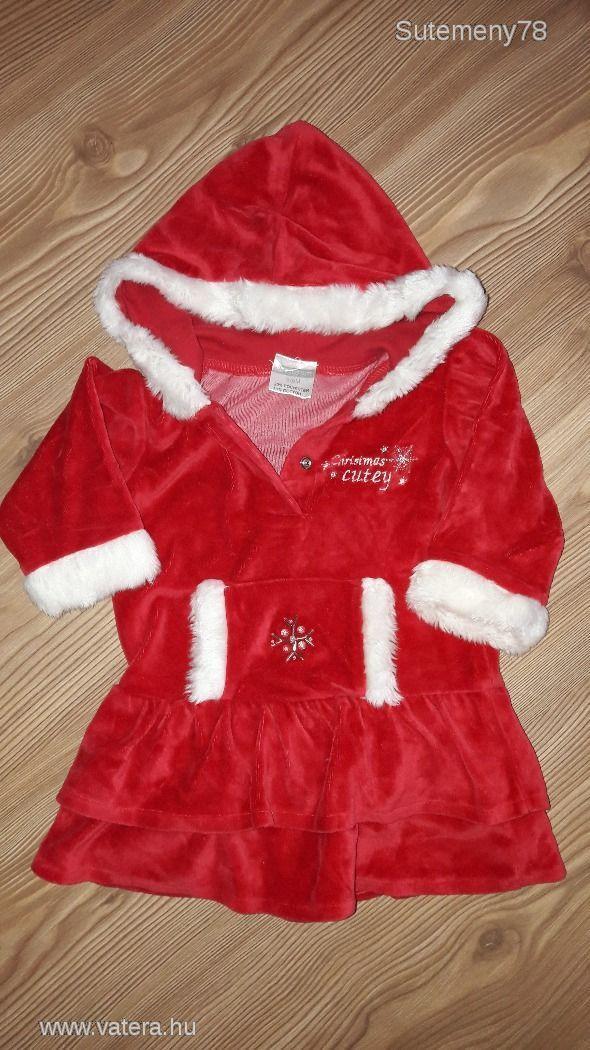 6-9 hós (74cm) meleg kislány karácsonyi alkalmi kapucnis kiskabát/ruha - 1400 Ft - Nézd meg Te is Vaterán - Alkalmi szoknya, egész ruha - http://www.vatera.hu/item/view/?cod=2539118984