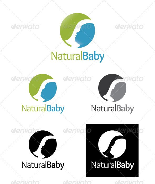 Natural Baby Logo — Vector EPS #leaf #family • Available here → https://graphicriver.net/item/natural-baby-logo/2048766?ref=pxcr