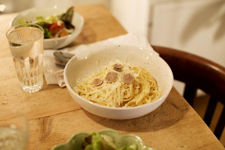 pasta med trøffel og parmesan