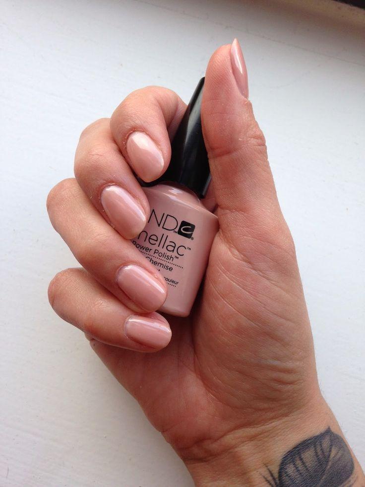 CND Shellac Bare Chemise – Halbtransparentes Pink-Beige mit einem leichten sanften Schimmer. #n … – Let's Talk Polish