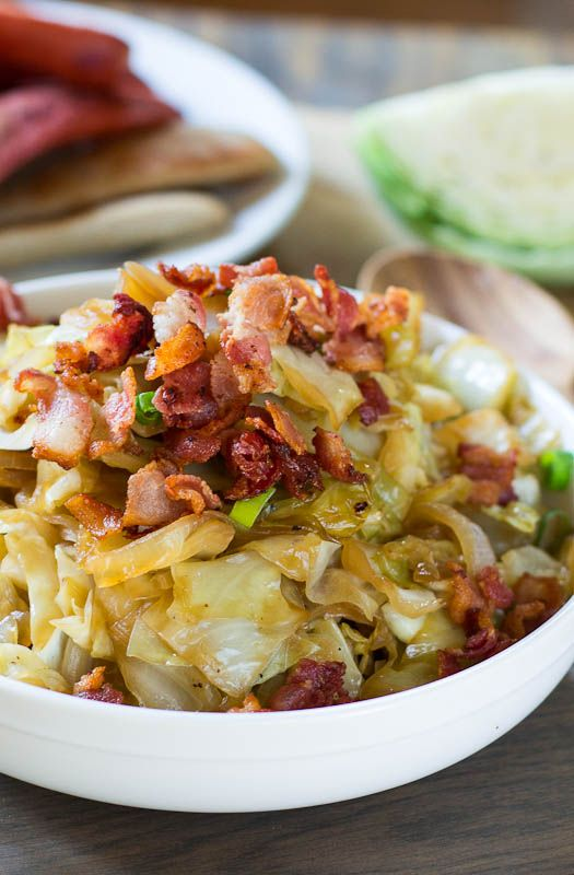 Sweet and Sour Cabbage with Bacon.  use tamari instead of soy sauce #gluten_free #gf