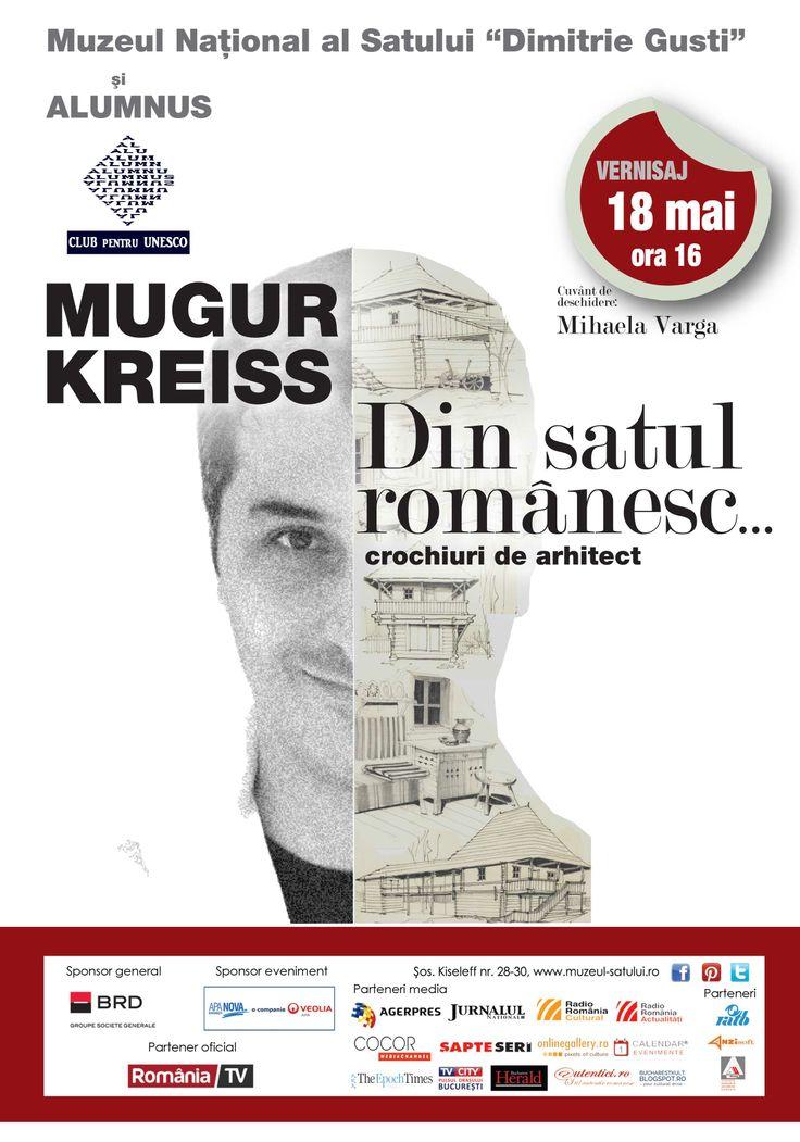 Din satul romanesc....crochiuri de arhitect Mugur Kreiss casa Glod, 18 mai, ora 16.00