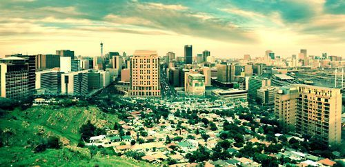 This Johannesburg, merged pics of the city and surrounding suburbs.