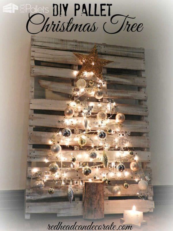 Deze kerst geen zin in een traditionele kerstboom! De palletboom is het perfecte alternatief! 14 prachtige voorbeelden! - Pagina 4 van 15 - Zelfmaak ideetjes