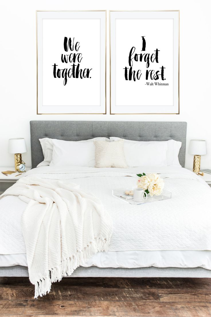 PRINTABLE WALL ART We Were Together I Forget The by LuminousPrints