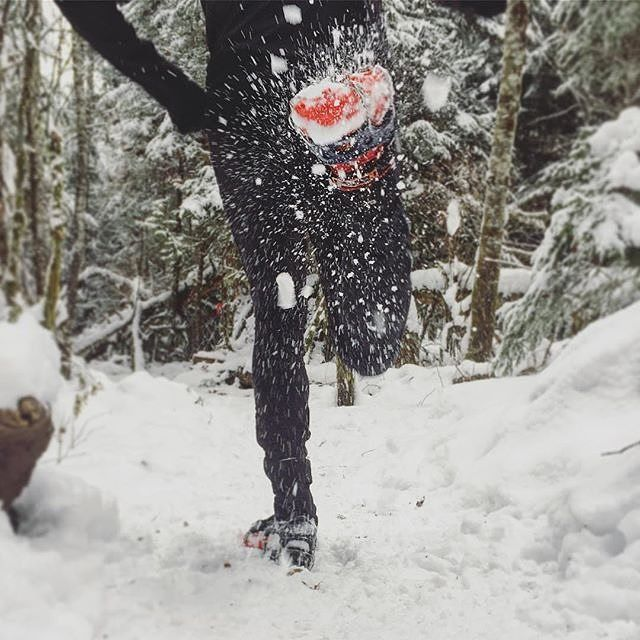 @jpelletier : The trails in Squamish were a winter wonderland today, and no better time for my @hillsoundequipment trail crampons. 📷: @jpelletier Dec. 18, 2016